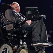 Stephen Hawking, at the 2012 Paralympics