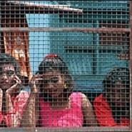 Girls caged by sex traffickers