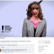 Threat posted against the leader of Moms Demand Action on Gun Control on it's Facebook.
