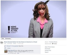 Moms Against Gun Violence Shannon Watts is a frequent target of the gun lobby.