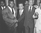 Ali traveled to Africa when Nelson Mandela was released from prison.